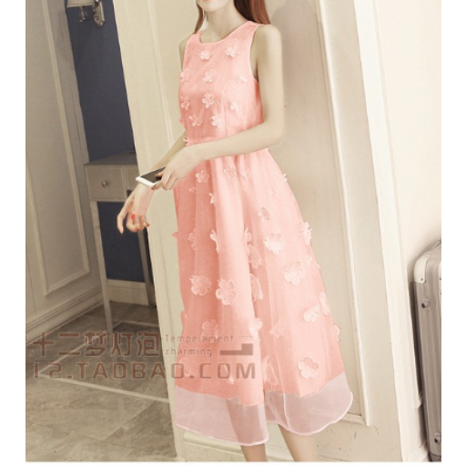 فستان الاورقنزا الخربزي
