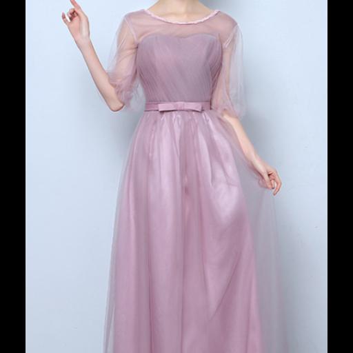 فستان التل الطويل