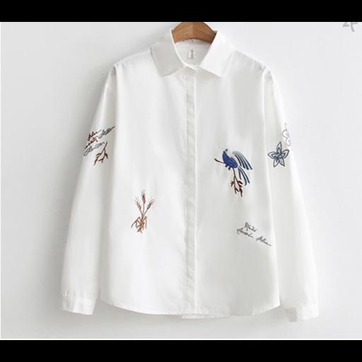قميص تطريز الطاؤوس