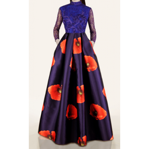 فستان الأزهار البرتقالية