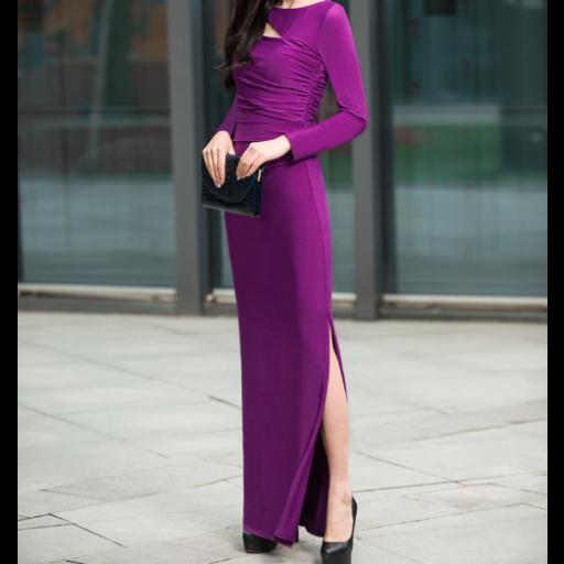 فستان استرتش الارجواني