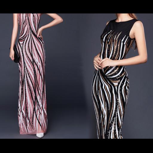 فستان الترتر الطولي