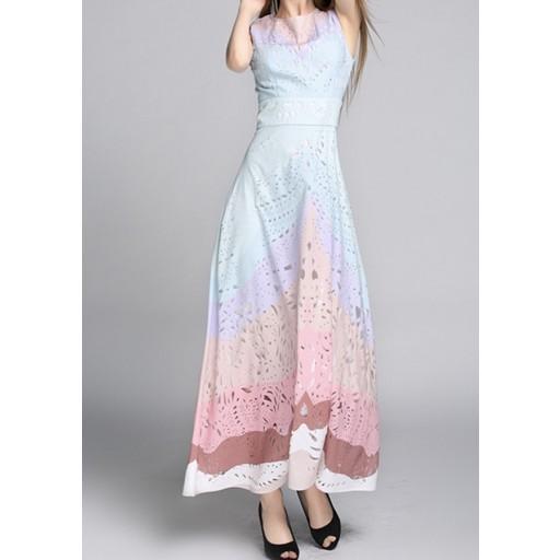 فستان الألوان المتعددة