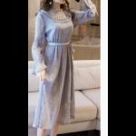 فستان دانتيل للمناسبات والأعياد بأكمام طويلة
