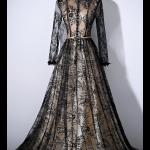 فستان الدانتيل الاسود الفخم