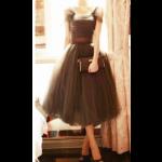 فستان التل البني