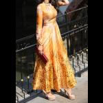 فستان التايقر البرتقالي
