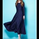 فستان ميدي بقصة مموجة أنيقة