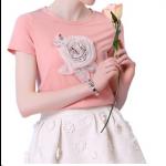 تي شيرت الوردة الكبيرة
