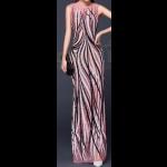 فستان تل مع الترتر الطولي