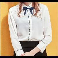 قميص شيفون الفيونكة السوداء العصرية