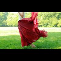 تنورة الشيفون اللامع
