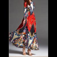 فستان الساتان المشجر