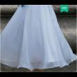فستان شيفون ميدي الحزام العريض بطبقات الياقة