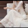 فستان أبيض مميز