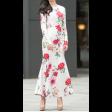 فستان الزهور السكري  الأنيق بأكمام طويلة