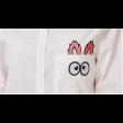 بلوزة رسمية سكرية برسمة الأرنب اللطيفة