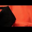 قميص شيفون الأطراف السوداء