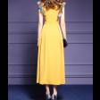 فستان ناعم تطريز الأكتاف