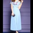 فستان الصدر المتموج بتطريز