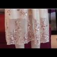 فستان ذهبي ترتر من الشيفون سوارية الفخم