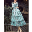 فستان كلاسيك مشجر بطبقات جذابة