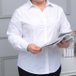 قميص ابيض مقاس كبير