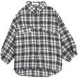 قميص الكاروهات بالاسود فري سايز