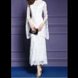 فستان الدانتيل الفخم  باللون السكري بقصة عصرية