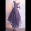 فستان موف طبقات الشيفون العصري