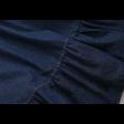 تنورة جينز غامق بكشكش الاطراف