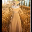فستان كموني بياقة دانتيل عصرية