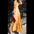 فستان تايقر برتقالي