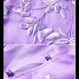 فستان موف بتطريز ناعم