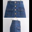 تنورة جينز الجيوب الأمامية