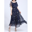 فستان الشيفون الصيفي بأكمام منخفضة وتصميم أنيق