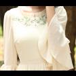 فستان الأوراق الخضراء