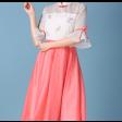 فستان قصير شيفون اللونين