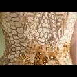 فستان بنقشة جلد الثعبان اللامع طويل مناسب لحفلات الزواج والسهرات