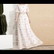 فستان ياقة الخرز الملون