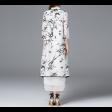 فستان وجالية شيفون الطيور