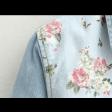 قميص جينز الورود الفوقية