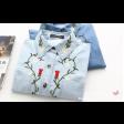 قميص جينز تطريز الورود