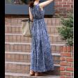 فستان كحلي صيفي