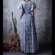 فستان الدانتيل السماوي الأنيق