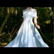فستان شيفون الياقة الرفيعة