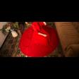 فستان الشيفون الأحمر