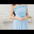 فستان شيفون الفيونكة الكبيرة
