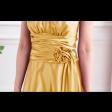 فستان ستان الوردة