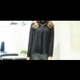 قميص الشيفون الأسود